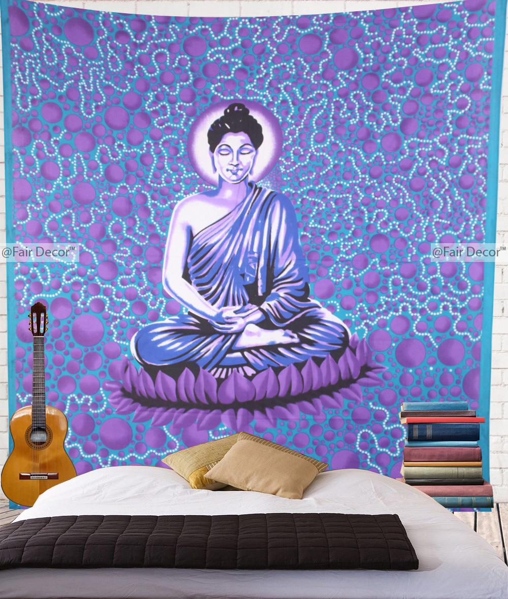 Buddha Tapestry Wall Hangings buddhist wall hangings - purple buddhist tapestries