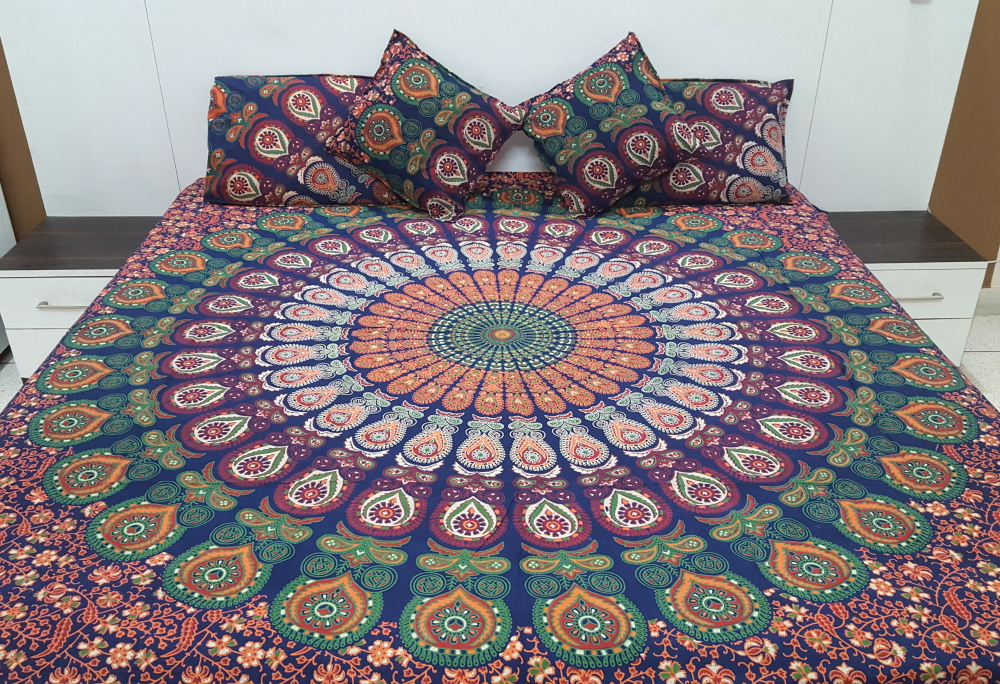 Mandala Bed Sheet India
