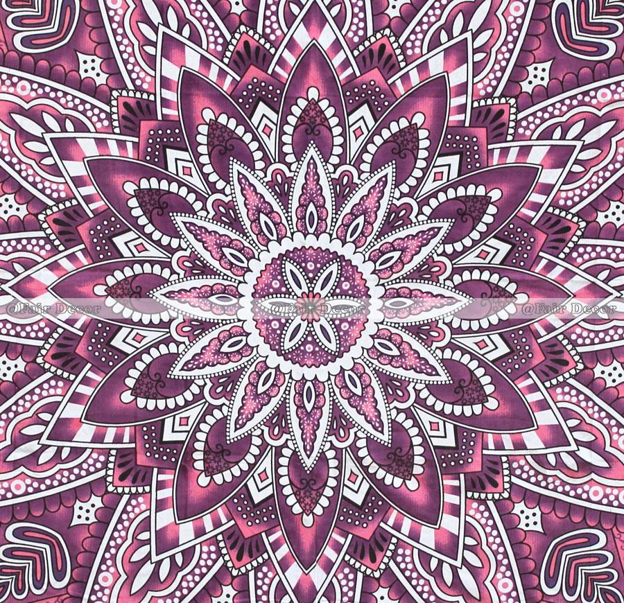 Q216 Pink Maroon Sun Flower Tapestry Hippie Beach Sheet