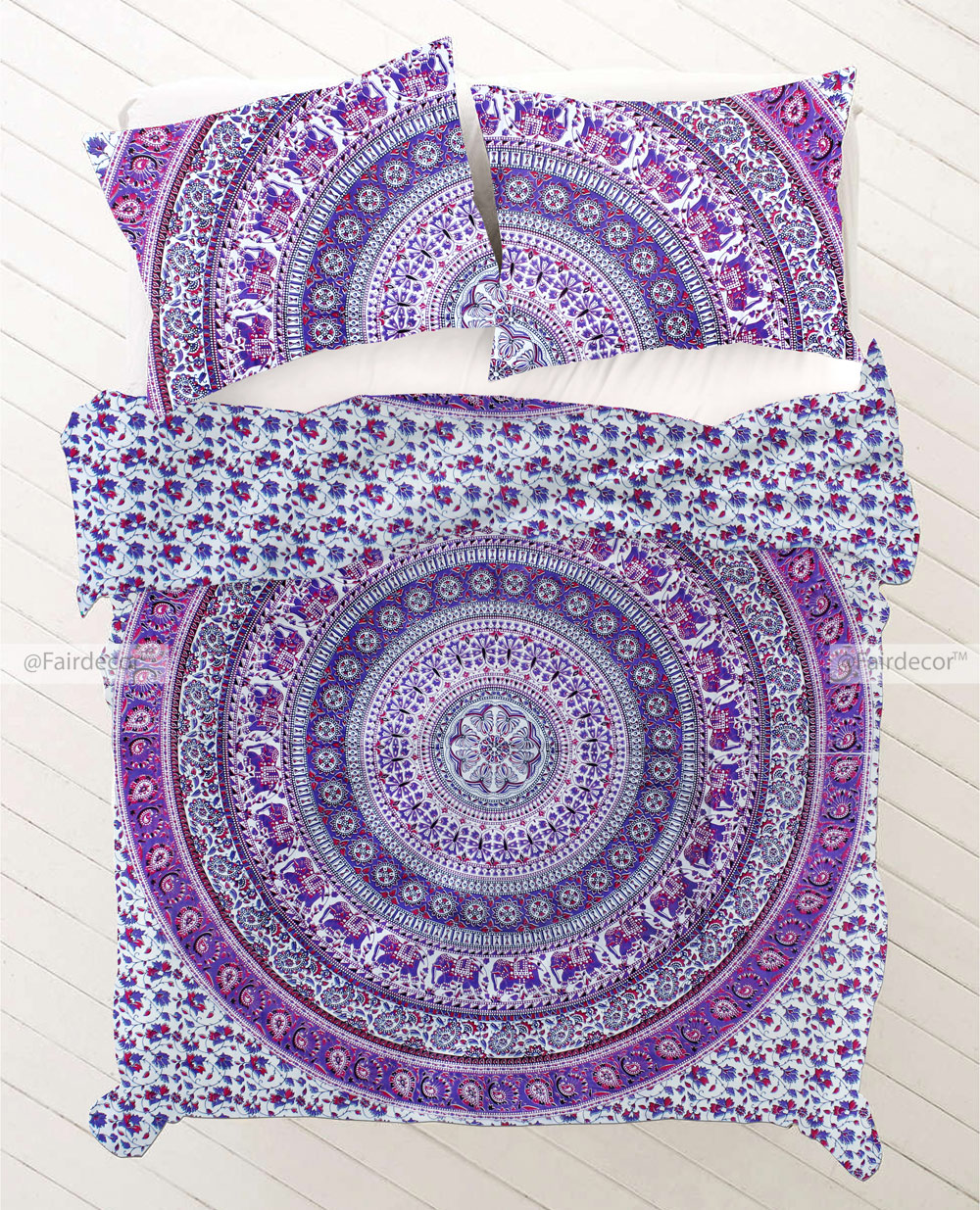 Purple Mandala Twin Extra Long Bedding Sets