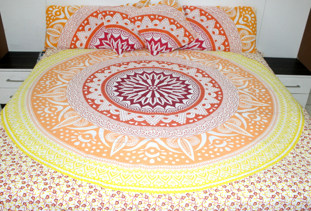 a8c14cc68c Yellow bedding sets – Pink Yellow Ombre Bedding Sets - Queen Size