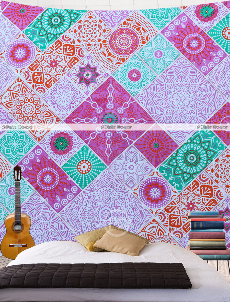 Queen Size Matrix Mandala tapestry wholesale India Wall