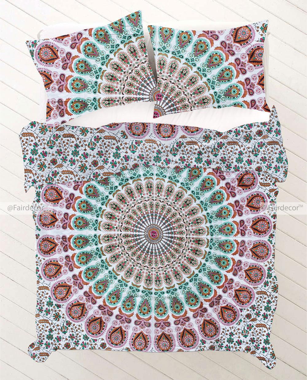 twin hippie mandala bedding duvet set for adults. Black Bedroom Furniture Sets. Home Design Ideas
