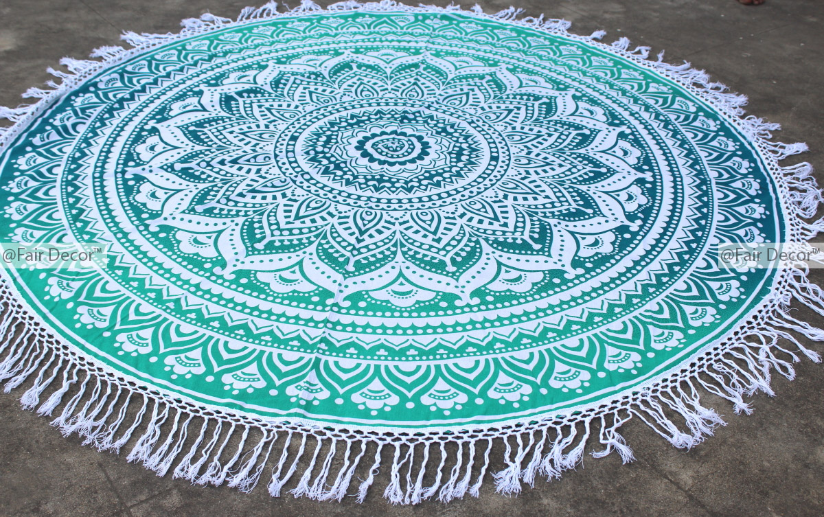 accessories products yoga printed mat popular beach bcdc chicboho tassels collections round