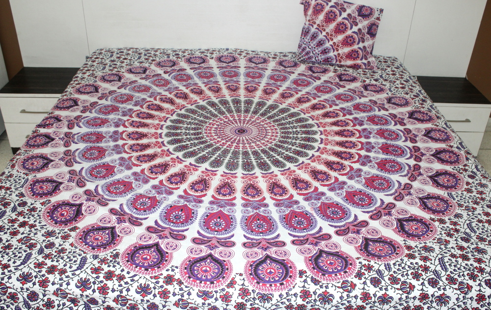White pink bedding sets pink and purple mandala bedding - Pink and purple bedding queen ...