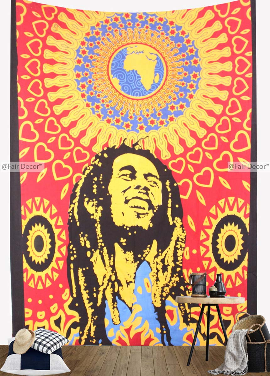 Bob Marley Tapestry - Bob Marley One Love Tapestry Wall Hanging