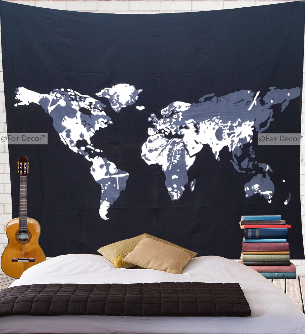World map tapestry world map wall art world map wall hanging thumbnail 1 gumiabroncs Images